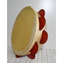 Pandeireta con ferreñas pintadas
